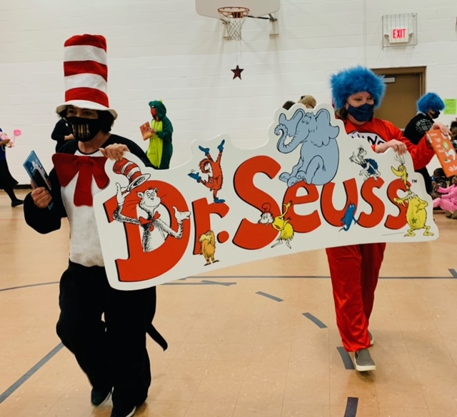 Dr Suess characters at urban league MLK event