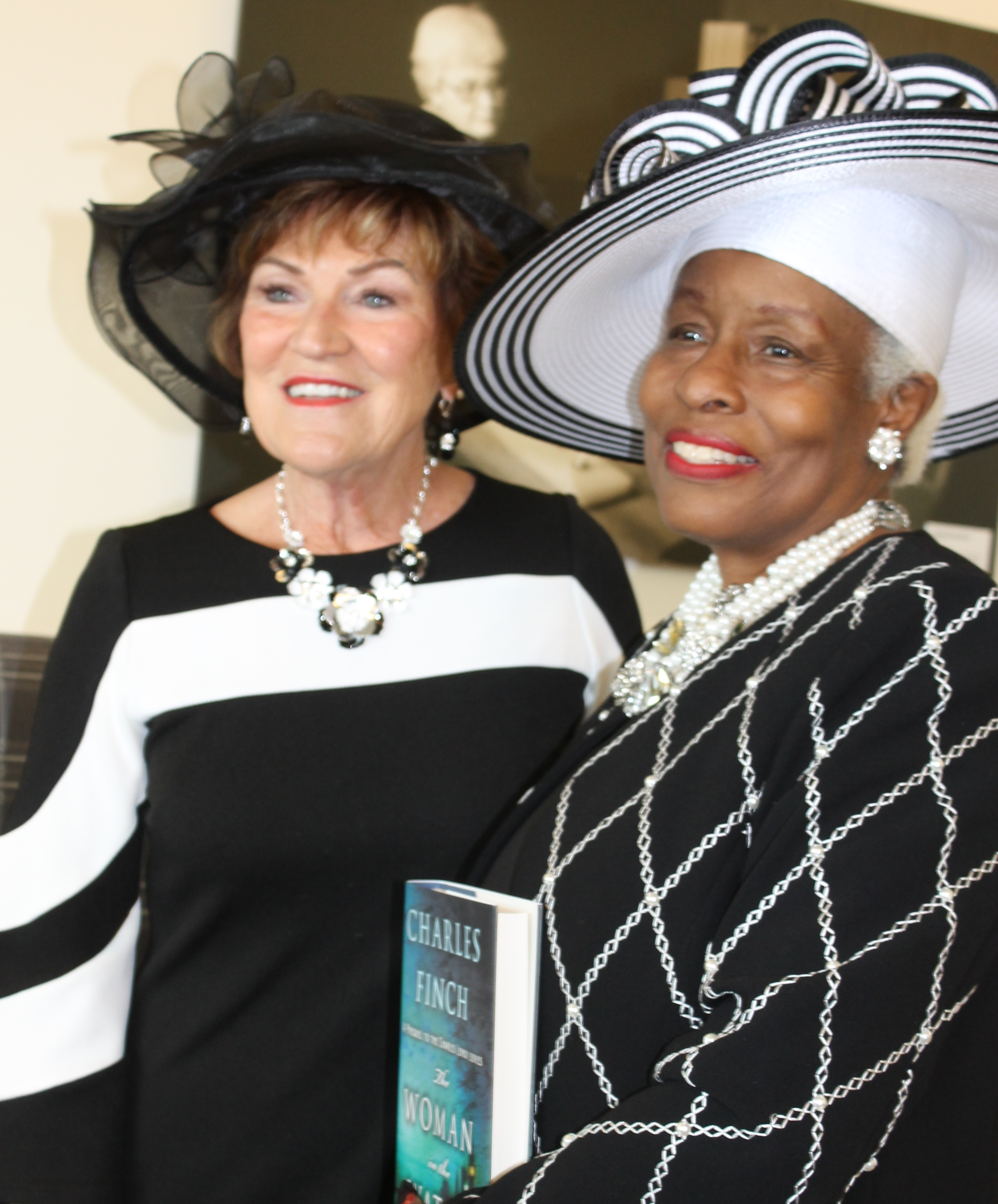 2019 04 13 authors brunch two lovely ladies in black and white