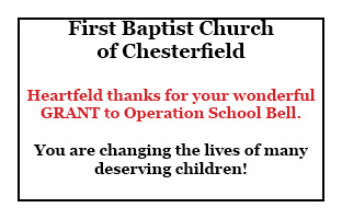 Thank You, 1st Baptist