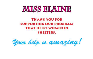 Thanks 9 - Miss Elaine